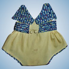 Darling 1930s Mommy Made Dy-Dee Doll Sunsuit Romper
