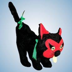 Vintage  Black Cat Devil Cat Made In Spain