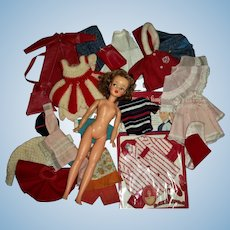 Ideal #2 Tammy Doll With Tammy & Family Clothes Lot