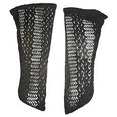 Pair of Black Lacy Antique Socks