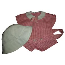 """Tagged Madame Alexander Short Play Set With Sun Hat For 11"""" Baby Doll"""