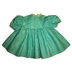 "Mint! Factory Aqua Pique Dress For 13"" Tiny Tears and Friends"