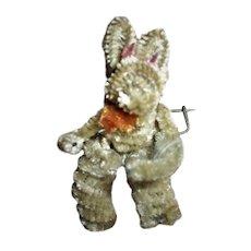 Cute Little Chenille Easter Bunny Rabbit Pin