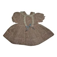 Pink Flocked Party Dress For Tiny Tears and Friends