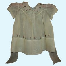 Very Pretty Embroidered & Tucked  Philippine Handmade Dress For Large Doll/Baby