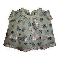 Flowered Dimity With Silk Trim Tagged 1920s Madame Hendren Dress