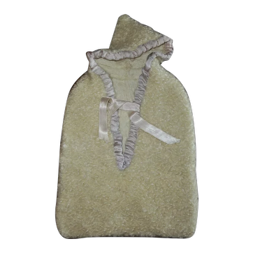 Gorgeous 1940s White Curly Lambs Fur Doll Hooded Bunting Tagged VOGUE