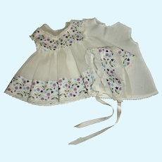 "Sweet Ideal Betsy Wetsy Organdy Dress Bonnet Set With Slip For 15""-16"" Baby Doll"