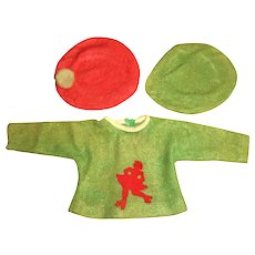 Original American Character EARLY Sweet Sue Jersey Knit Top With Matching Berets