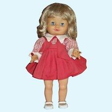 Cute 1960s All Original Vinyl School Girl Made In Italy
