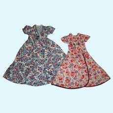 2 Vintage Arranbee Housecoats Robes For Slim Composition Dolls
