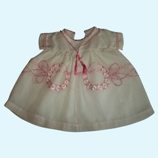 Gorgeous Very Vintage Dress For Your Bisque Babies Embroidered Work of Art