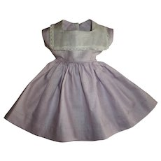 """Pretty Light Lilac Factory Dress With Organdy Collar For Your 19"""" Slim HP Girls"""