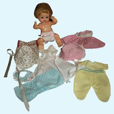 """Vintage Ideal 8"""" Little Betsy Wetsy With Clothes"""