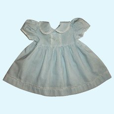 Vintage 50's Factory Larger Baby Doll-Toddler Doll Dress