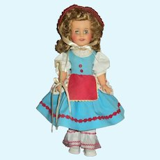 "Vintage Ideal 15"" Vinyl Shirley Temple Little Bo Peep"