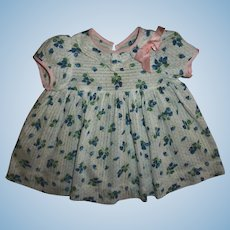 Vintage Factory Dimity Dress For Chubby Toddler Dolls