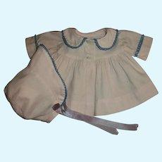 """Effanbee 15""""Dy-Dee Jane Pink Twill Coat and Bonnet Set"""