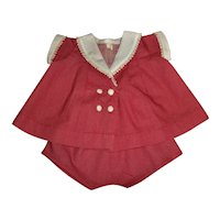 """Rare and Mint 1930s Tagged Vogue 22"""" Patsy Lou Cotton Play Suit"""