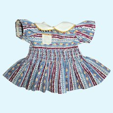 Vintage Smocked Waist Effanbee Dress For Composition Doll