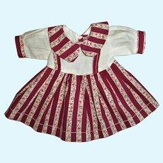 """Vintage Composition 19""""-20"""" Doll Dress"""