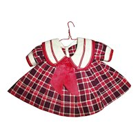 "1930s Ideal Shirley Temple ""Bright Eyes"" Plaid School Girl Dress"