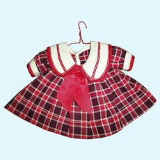 "1930s Ideal Shirley Temple ""Bright Eyes"" Plaid School Girl Dress"