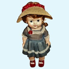 Mint HP Walker Nancy Ann DEBBIE Doll Wearing All Original Outfit With Box