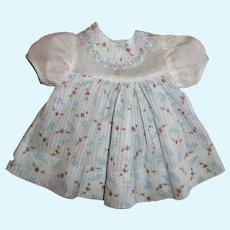 """Vintage Minty Dimity Dress For 15"""" Effanbee Dy-Dee Jane"""
