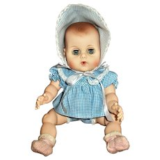 """Near MINT Vintage American Character Teeny Toodles 11""""Vinyl Drink and Wet Baby Doll"""