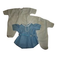 Romper And Two Footed Sleepers All For Same Doll Bisque or Composition Babies