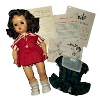 Very Sweet Tiny Terri Lee Walker With  Play Dress & Party Dress & Wardrobe Booklet++