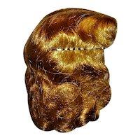 "Lovely Unused Vintage ""Sarlon"" Saran & Nylon Wig Size 8  For Hard Plastic Girls"