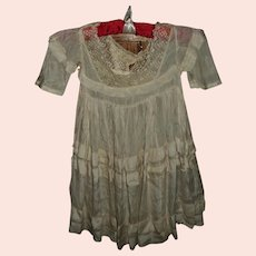 Gorgeous Silk and Lace Childs Dress