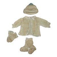 """MINT In Box 1930s Knit Sweater Set For Your Effanbee 11"""" Patsy Baby and Friends"""