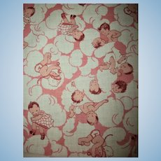 Sweetest Vintage Babies On Cotton or Clouds Fabric Pieces