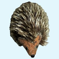 Vintage Cute Little Hedgehog Tagged Kunstlerschutz West Germany
