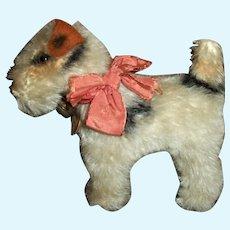 "Cute Vintage Steiff ""Foxy"" Dog Fox Terrier Great Doll Size"