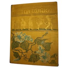 """Antique 1890 Book """"Ideal Heads"""" by Ida Waugh  Watercolor Lithos & Poems"""
