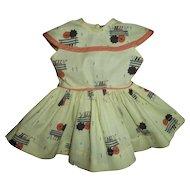 Vintage Mint Terri Lee Park Bench Umbrella Raindrop Dress