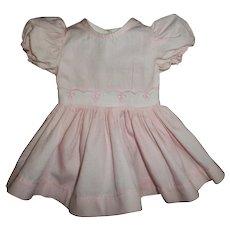 Vintage Mint Pink With Eyelet Terri Lee Dress