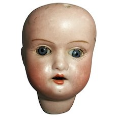 German Bisque Doll Open and Close Eye Socket Head Only