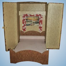1930s Cardboard Case Fold Out Murphy Doll Bed
