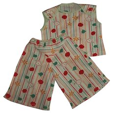 1930s Mommy Made Wide Leg Pants & Top Play Set For Larger Patsy Dolls