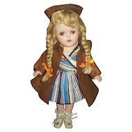 "Vintage Arranbee 13"" Composition Nancy With Original Dress & Coat Set"