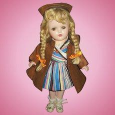 """Vintage Arranbee 13"""" Composition Nancy With Original Dress & Coat Set"""