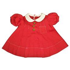 Original 1930 Molly'es Made Shirley Temple School Dress MINT!!!