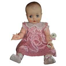 "Horsman Playpal Size 25"" Baby Doll~ Walk A Bye Baby Sister"
