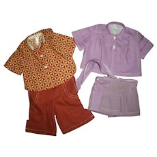 Vintage Tagged Terri Lee Blouses~Shorts~Pants