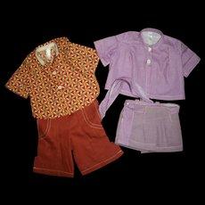 Vintage Tagged Terri Lee Blouses~Shorts~Pants